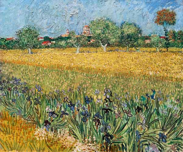 Vincent van Gogh: Blick auf Arles mit Irisblüten
